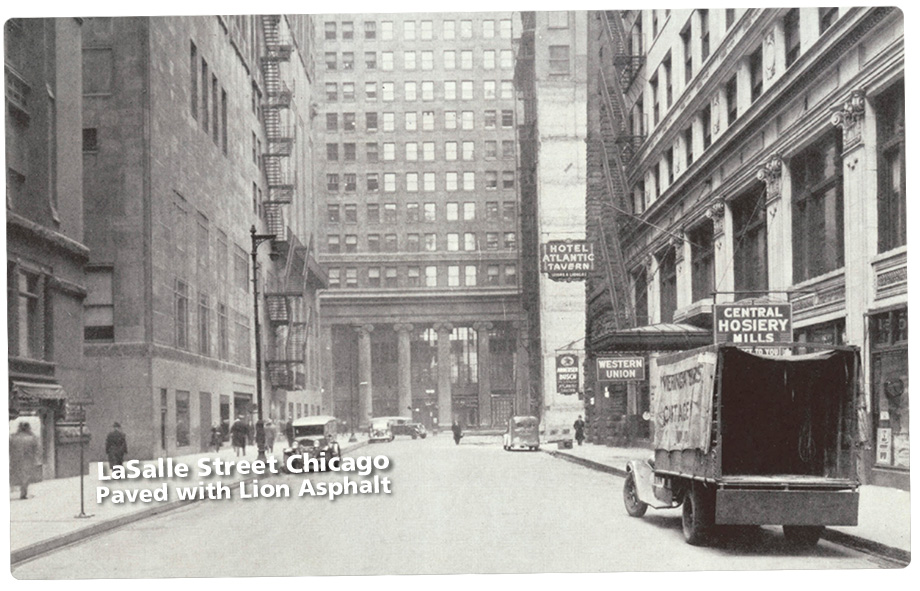 LaSalle-street-chicago Paved with Lion asphalt