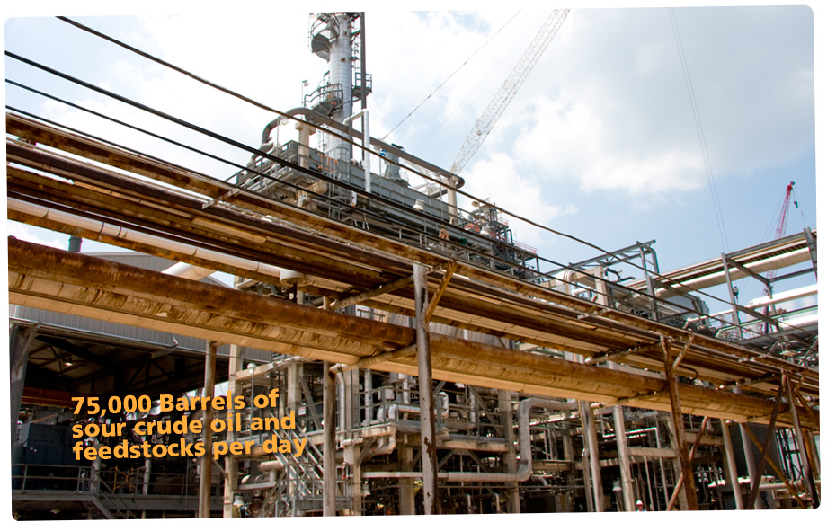 Arkansas Lion Oil- a capacity of approximately 75,000 barrels of sour crude oil and feedstocks per day