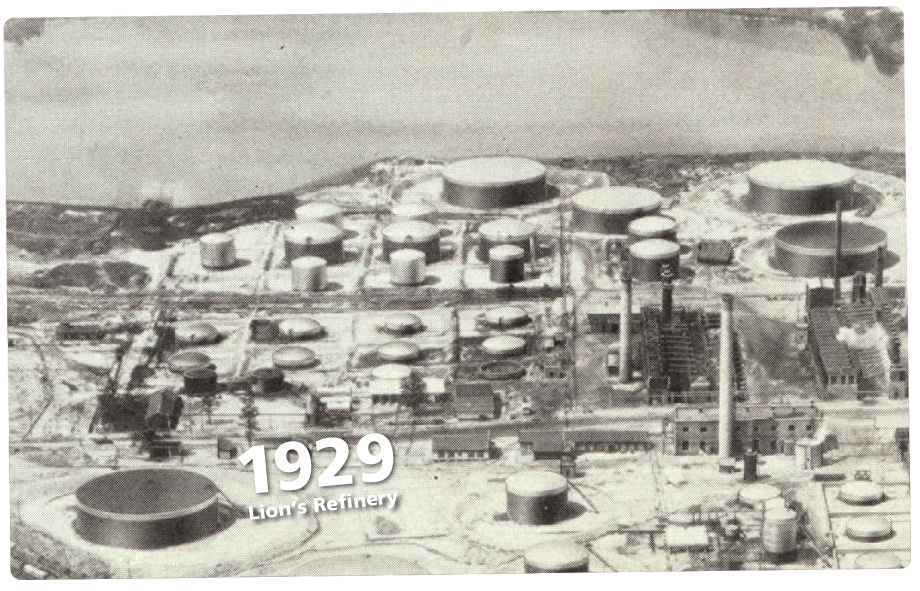 Aerial view of Lion's refinery 1929